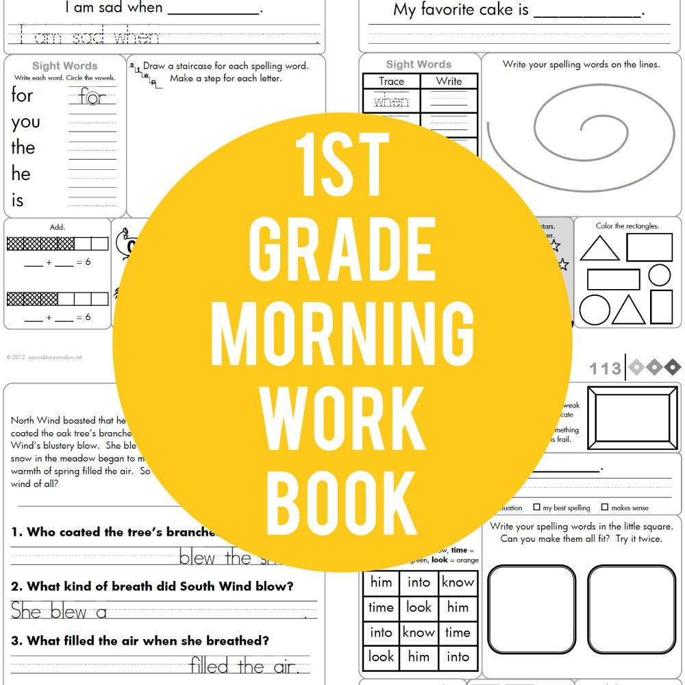 1st Grade Morning Work Worksheets 1st Grade Mon Core Aligned Morning Work