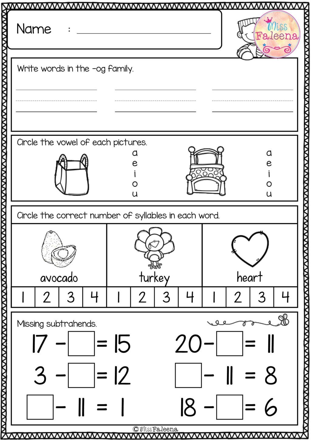 1st Grade Morning Work Worksheets Worksheet Free First Grade Morning Work Freebies