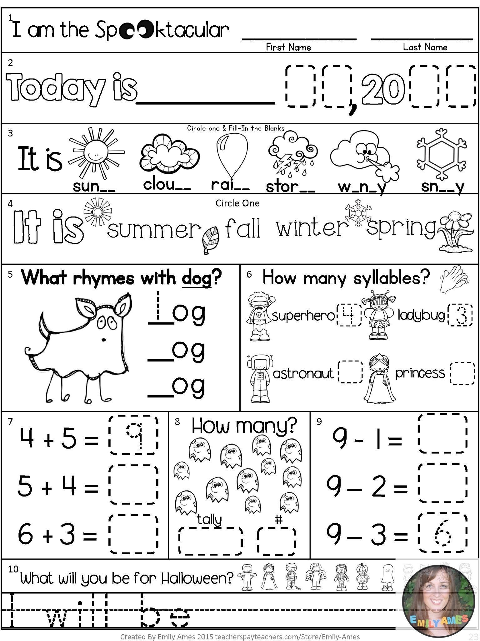 1st Grade Morning Work Worksheets Worksheet Worksheet Morning Workrst Grade February Packet