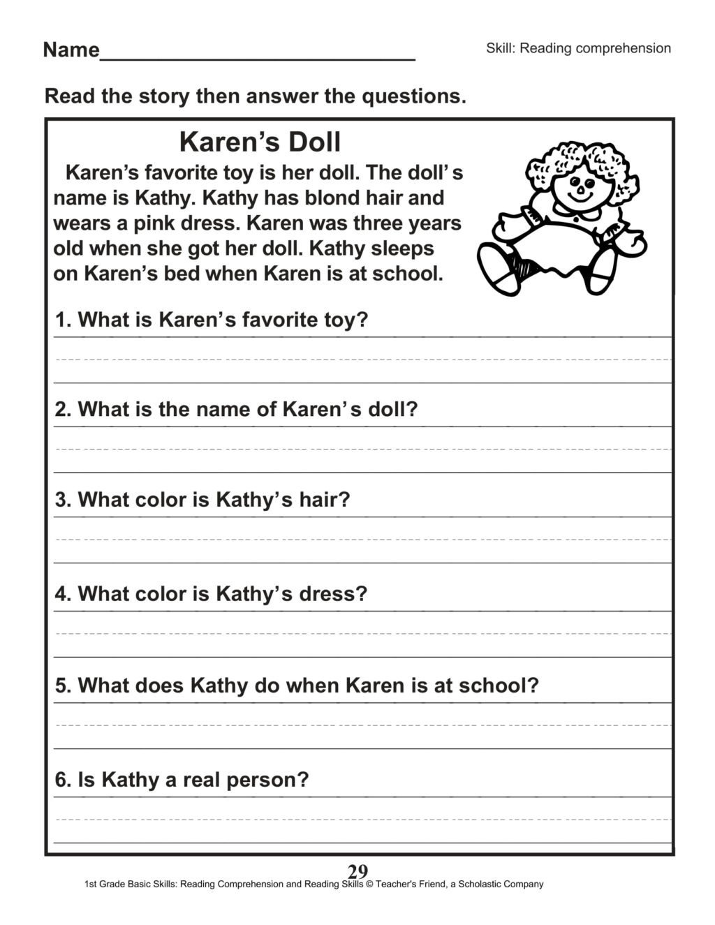 1st Grade Reading Worksheets Pdf Worksheet Easy Reading Worksheets Printable and Activities