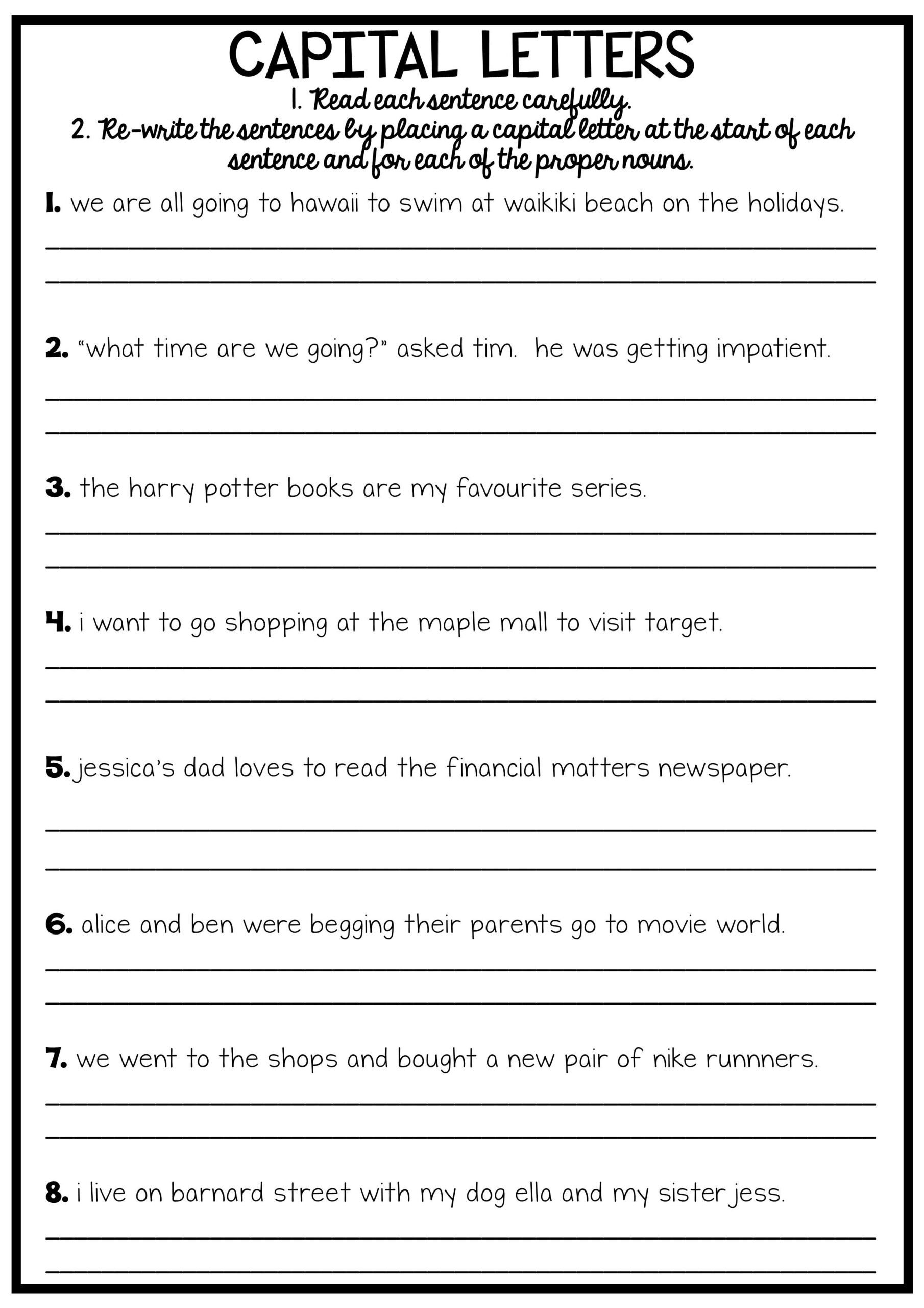 reading and grammar pack no prep printables worksheets english punctuation 2nd 3rd grade scaled