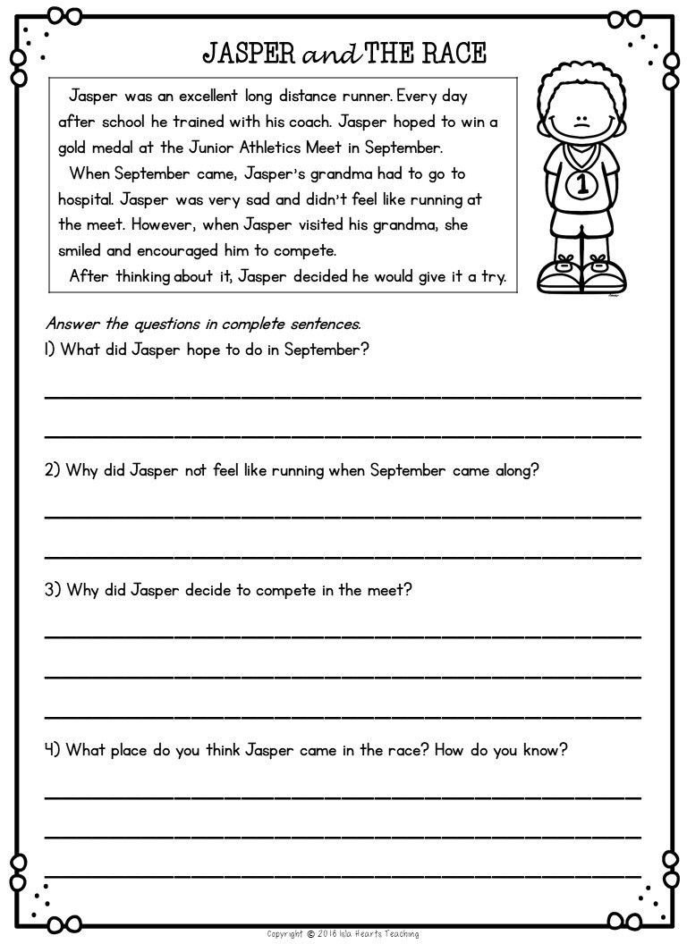 2nd Grade Editing Worksheets Second Grade Reading Prehension Passages and Questions