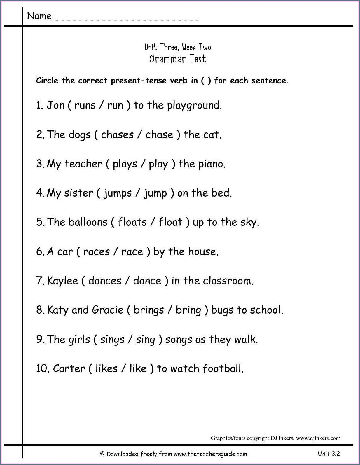 2nd Grade Grammar Worksheets Pdf Math Worksheet 2nd Grade Grammarets Second Printable Free