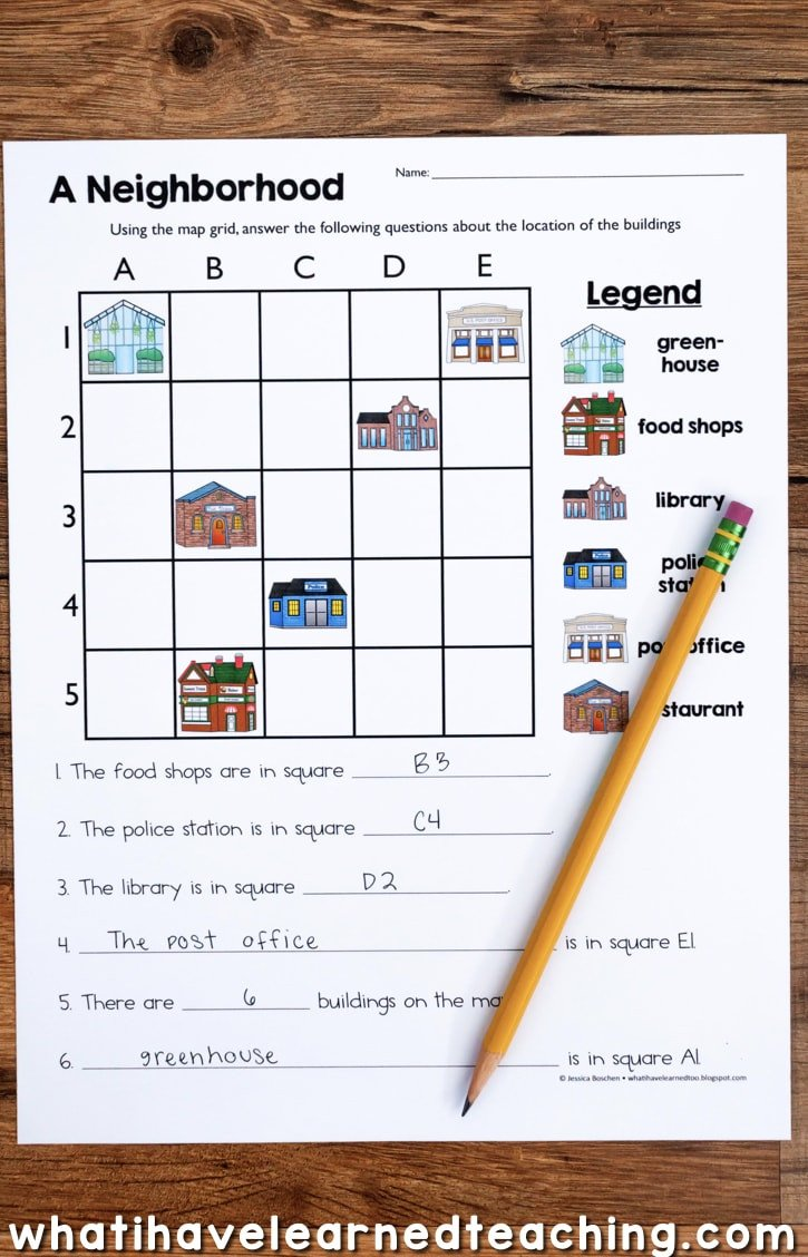 2nd Grade Map Skills Worksheets Map Skills & Location social Stu S Unit