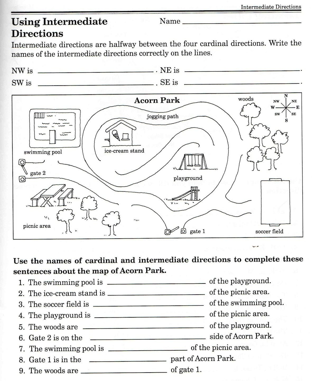 2nd Grade Map Skills Worksheets social Stu S Skills