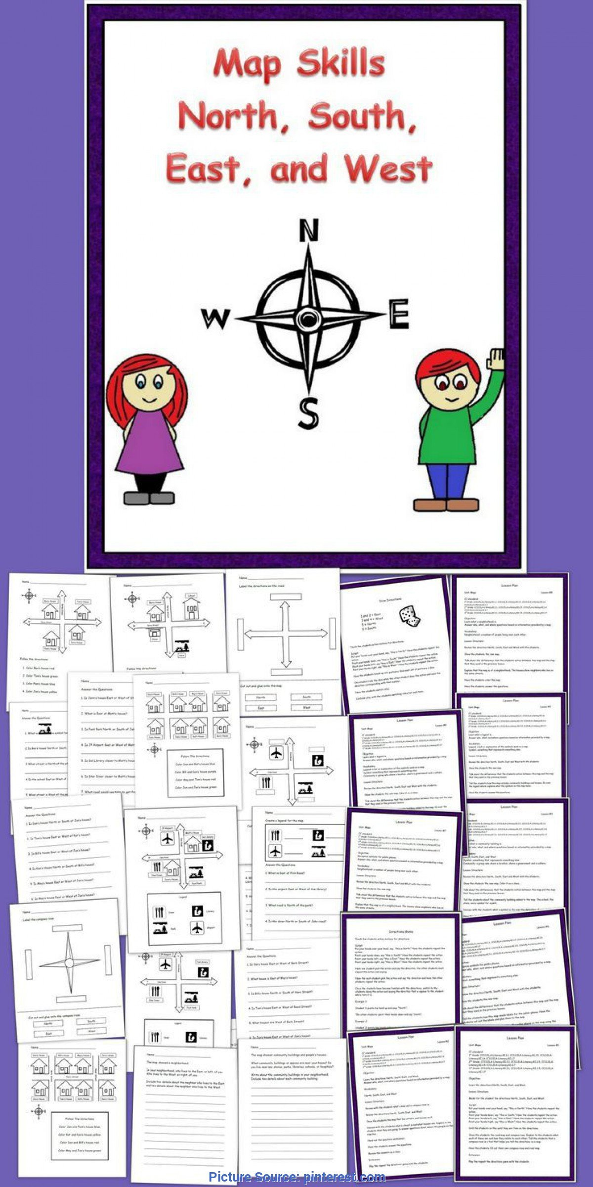 2nd Grade Map Skills Worksheets social Stu S Skills Worksheets Free Printable and Key 2nd