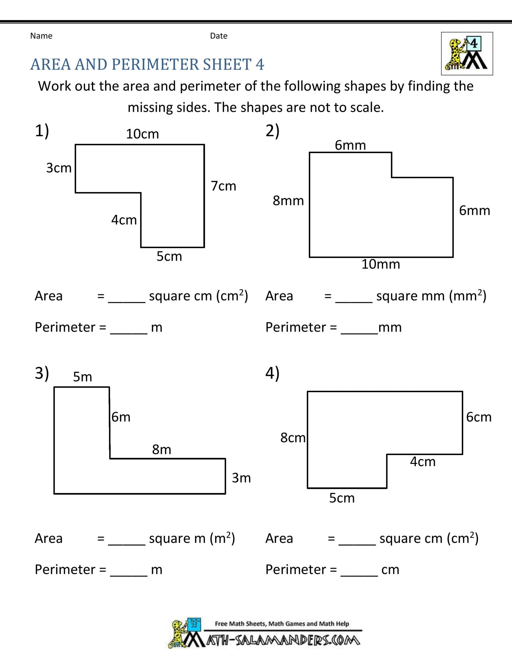 2nd Grade Perimeter Worksheets Simple Perimeter Worksheets