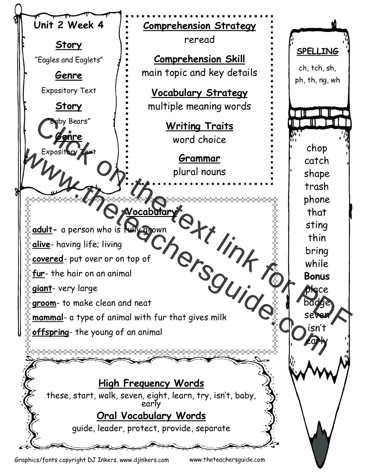 2nd Grade Spelling Worksheets Pdf Wonders Second Grade Unit Two Week Four Printouts