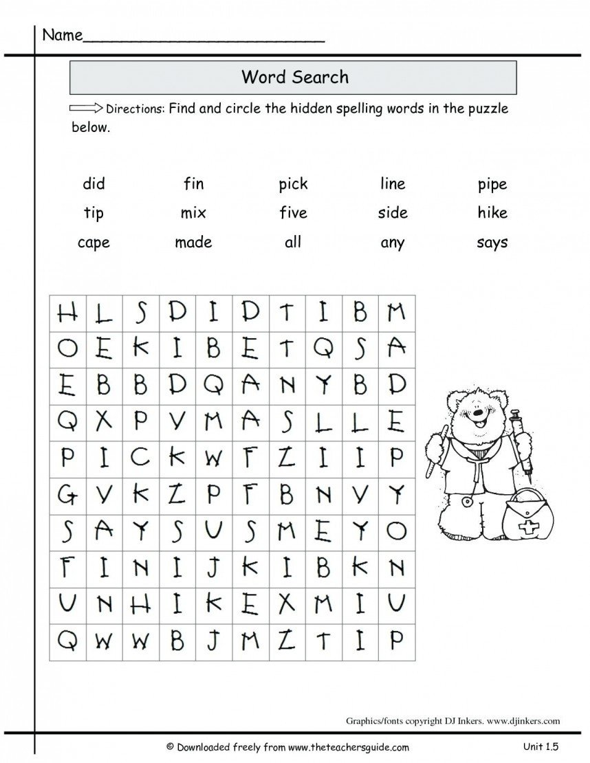 2nd Grade Spelling Worksheets Worksheet Extraordinary Printables for 2nd Grade Image