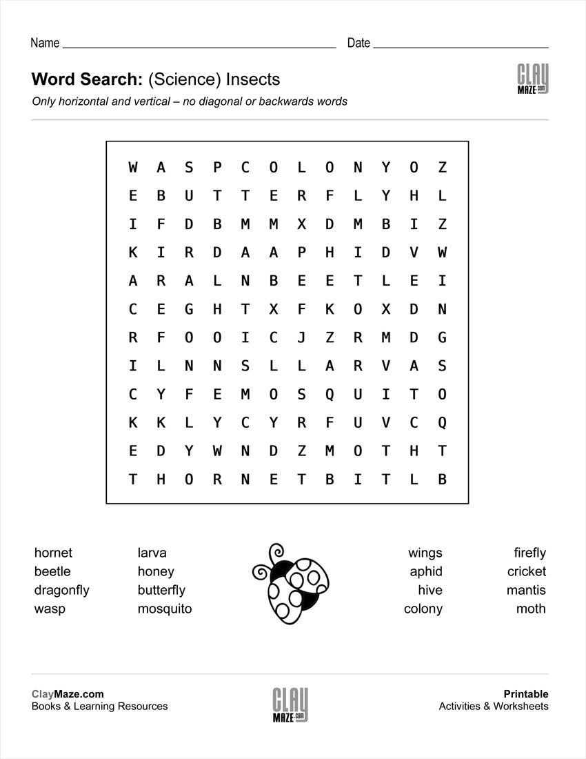 2nd Grade Weather Worksheets Download Our Free Word Search Puzzle All About Insects