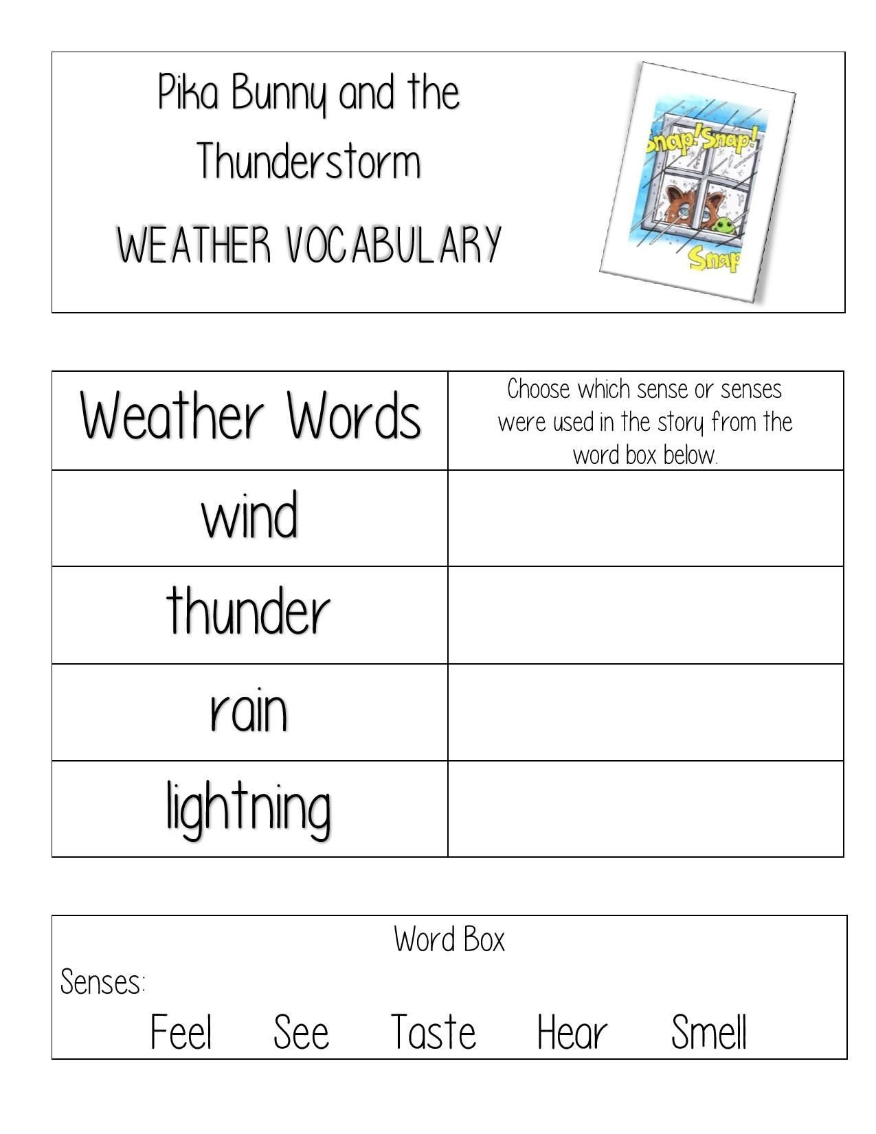 2nd Grade Weather Worksheets Free Weather Worksheet for Teachers and Homeschool for
