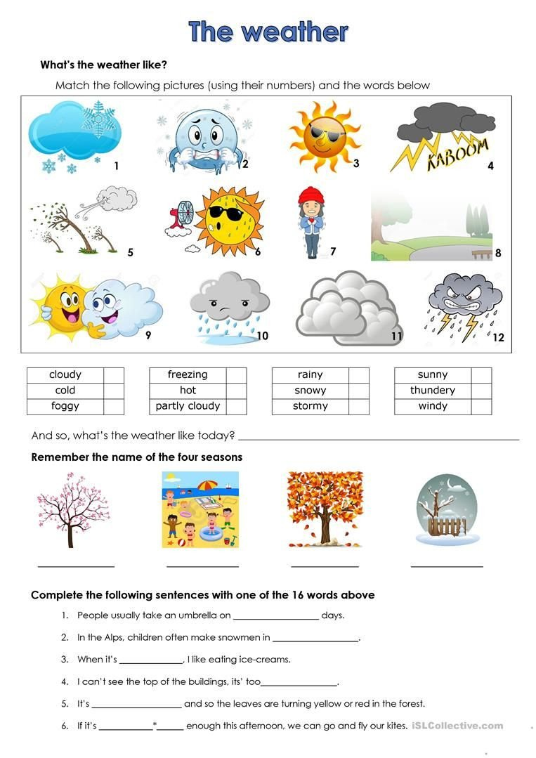 2nd Grade Weather Worksheets Weather Worksheet Free Esl Printable Worksheets Made by