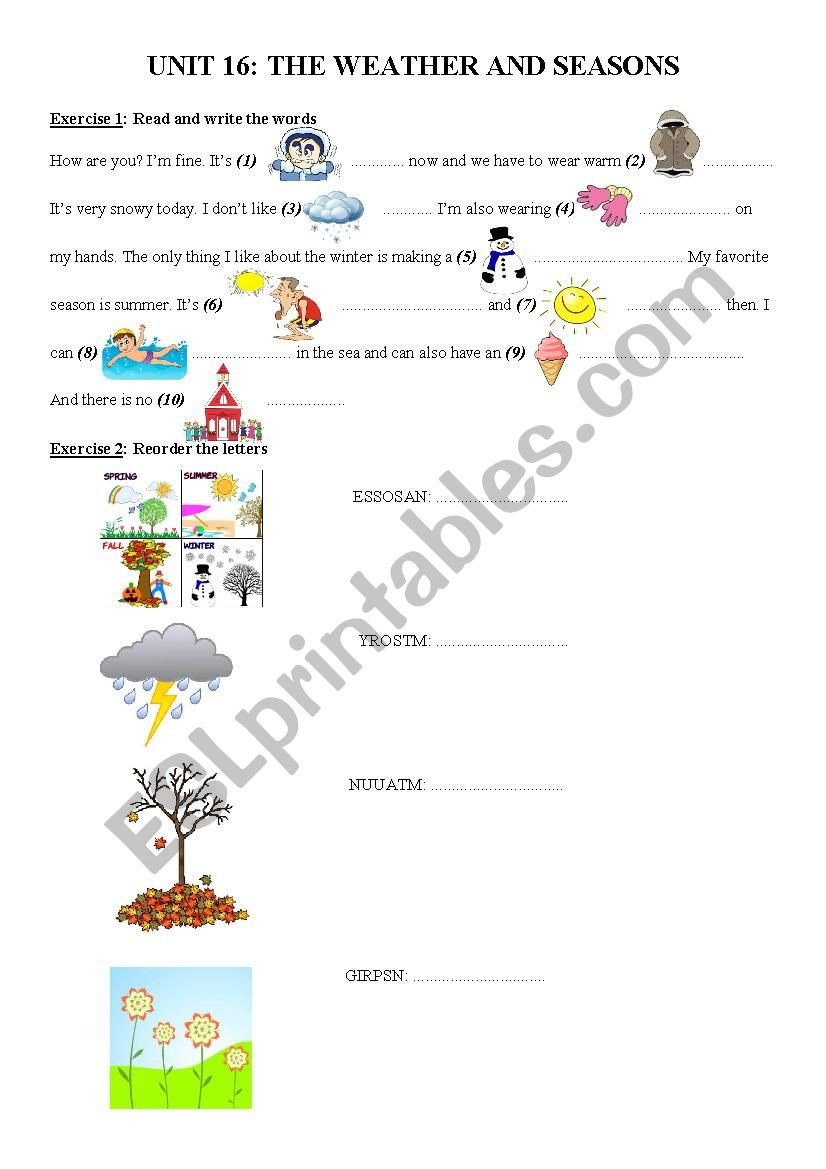 2nd Grade Weather Worksheets Worksheet Ws Unit Interactive Worksheet Prehension