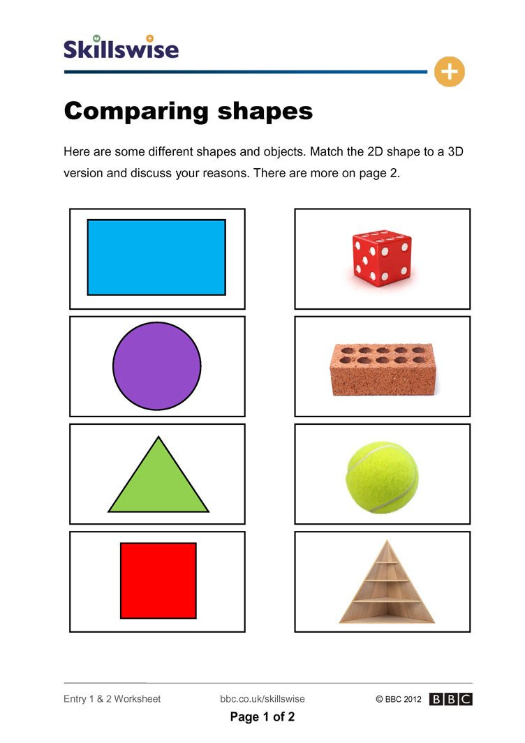 3d Shapes Worksheet Kindergarten 2d and 3d Shapes Worksheets