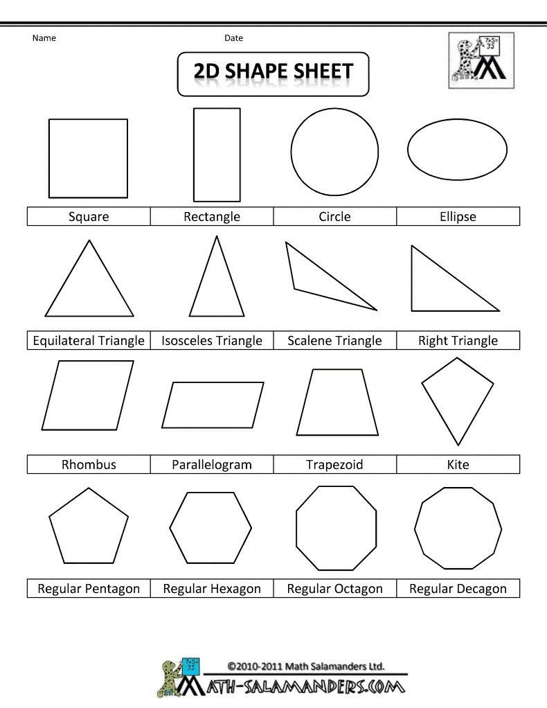 3d Shapes Worksheets 2nd Grade 4 Worksheet Free Math Worksheets Second Grade 2 Geometry 3d