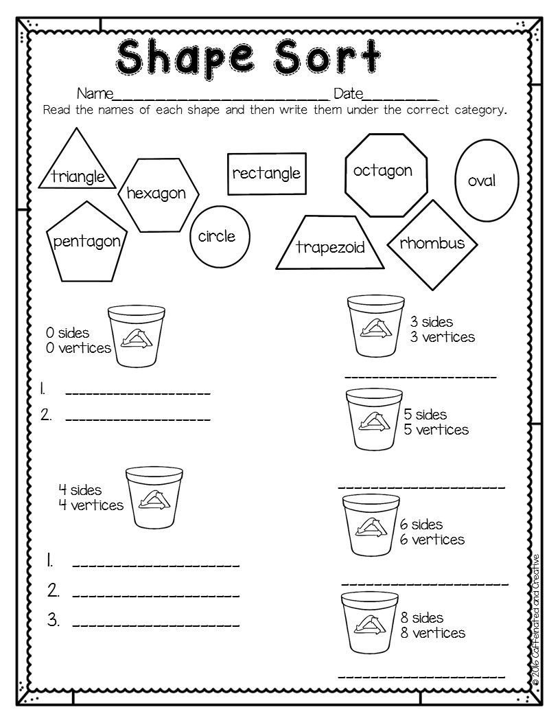 3d Shapes Worksheets 2nd Grade Spring Into Spring