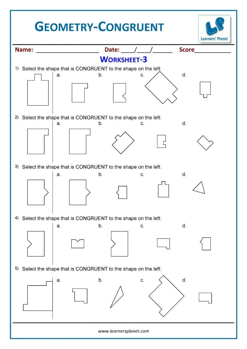 printable geometry worksheets 3rd grade math