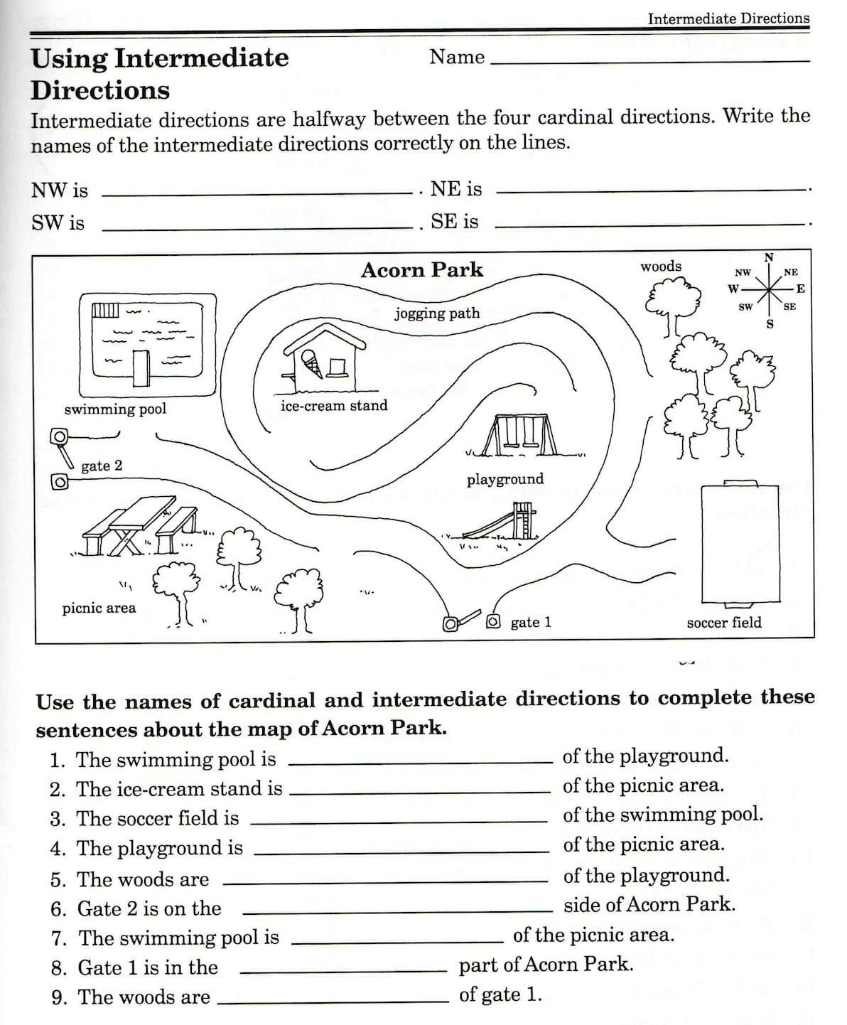 3rd Grade Map Skills Worksheets Second Grade Map Skills Worksheets Map Skills Worksheets 3rd