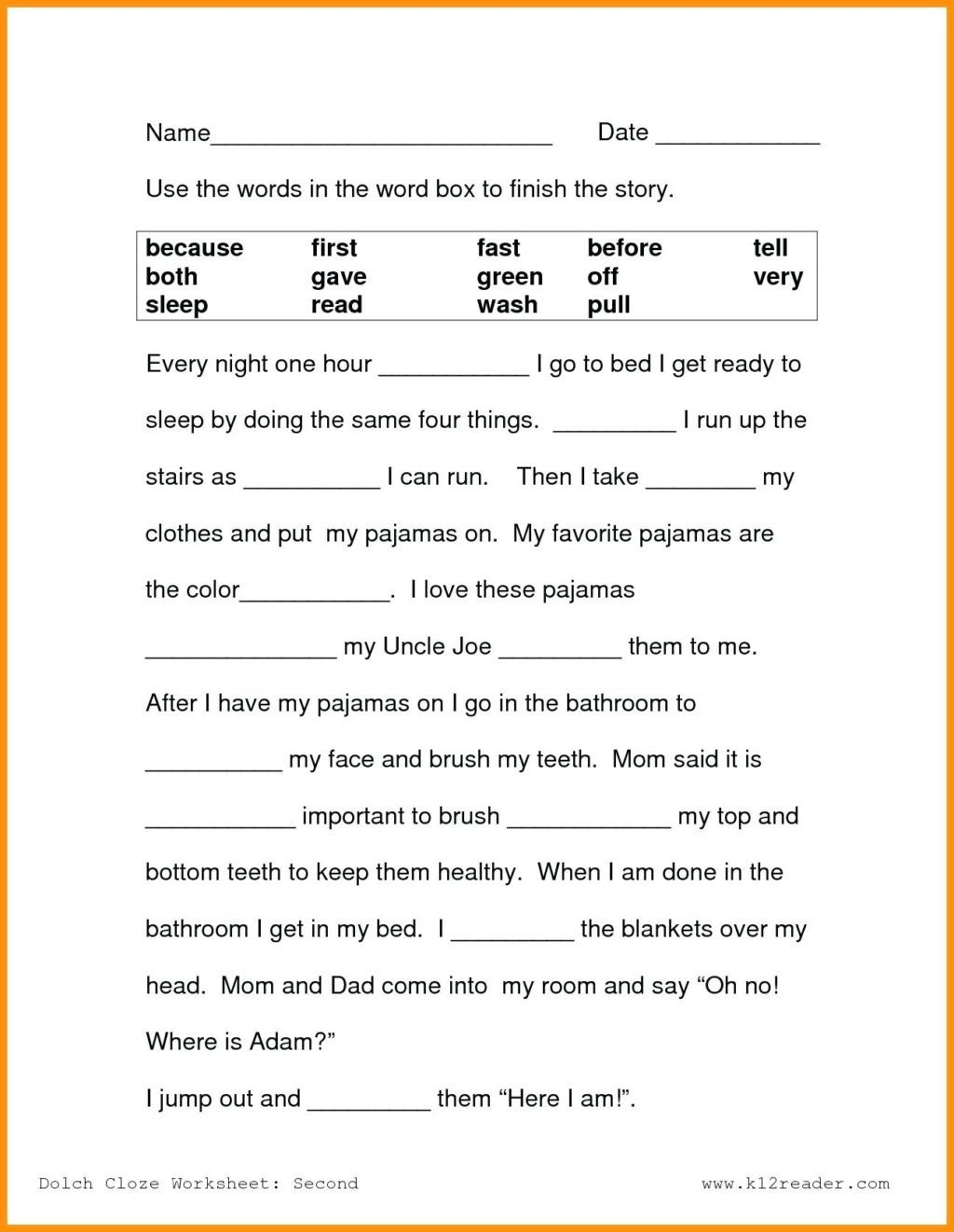 reading worskheets passages for 3rd graders free printable 4