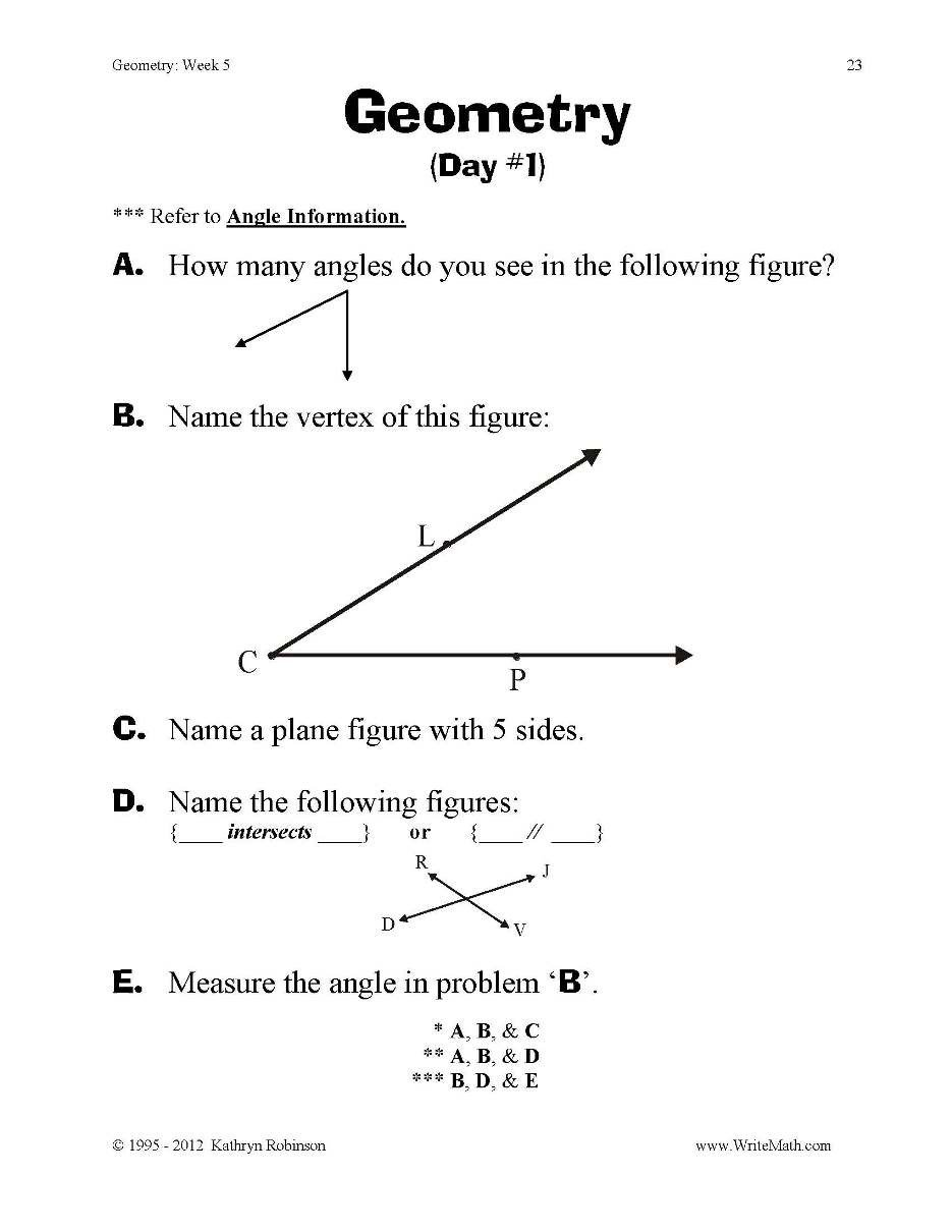 3rd Grade Volume Worksheets Geometry Final Pdf T Worksheets Elementary Grade Just Turn
