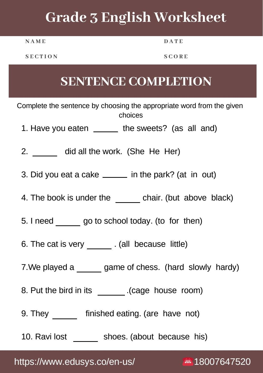4th Grade Grammar Worksheets Pdf 3rd Grade English Grammar Worksheet Free Pdf by Nithya issuu
