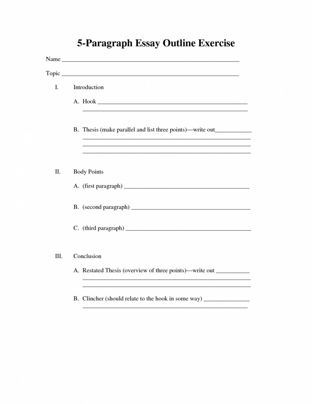 4th Grade Paragraph Writing Worksheets Outline for Paragraph Essay Writing Five oracleboss within
