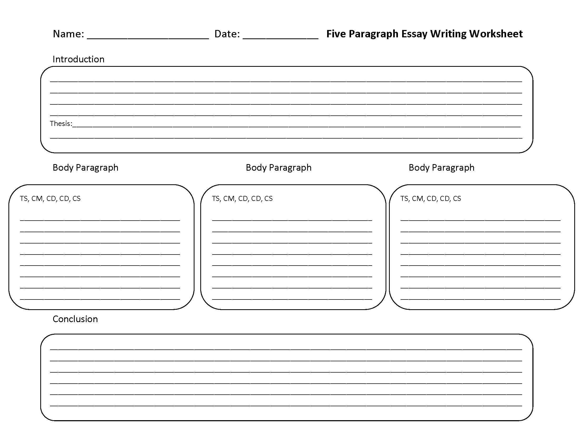 4th Grade Paragraph Writing Worksheets Paragraph organizer Worksheet