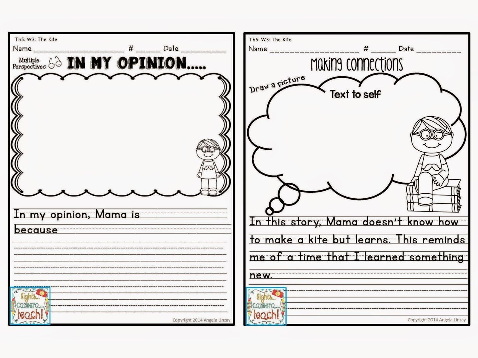 opinion writing activities for 1st grade wu