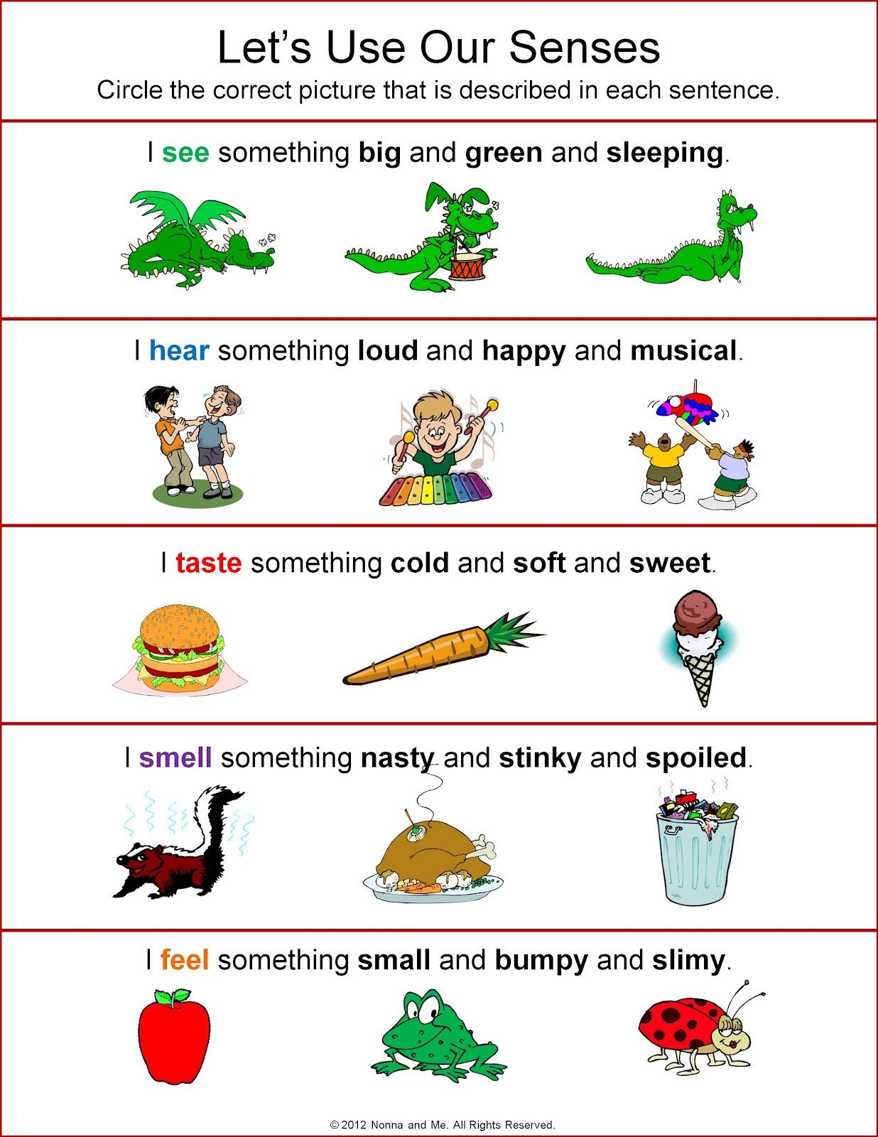 5 Senses Worksheets Preschool Five Sense Worksheet New 75 Five Senses Activities and