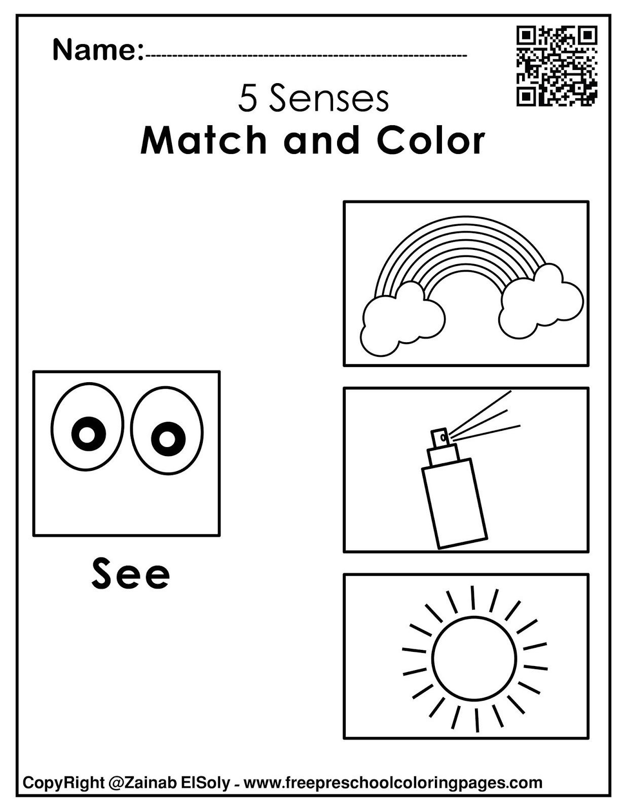 5 Senses Worksheets Preschool Set Of 5 Senses Activities for Kids