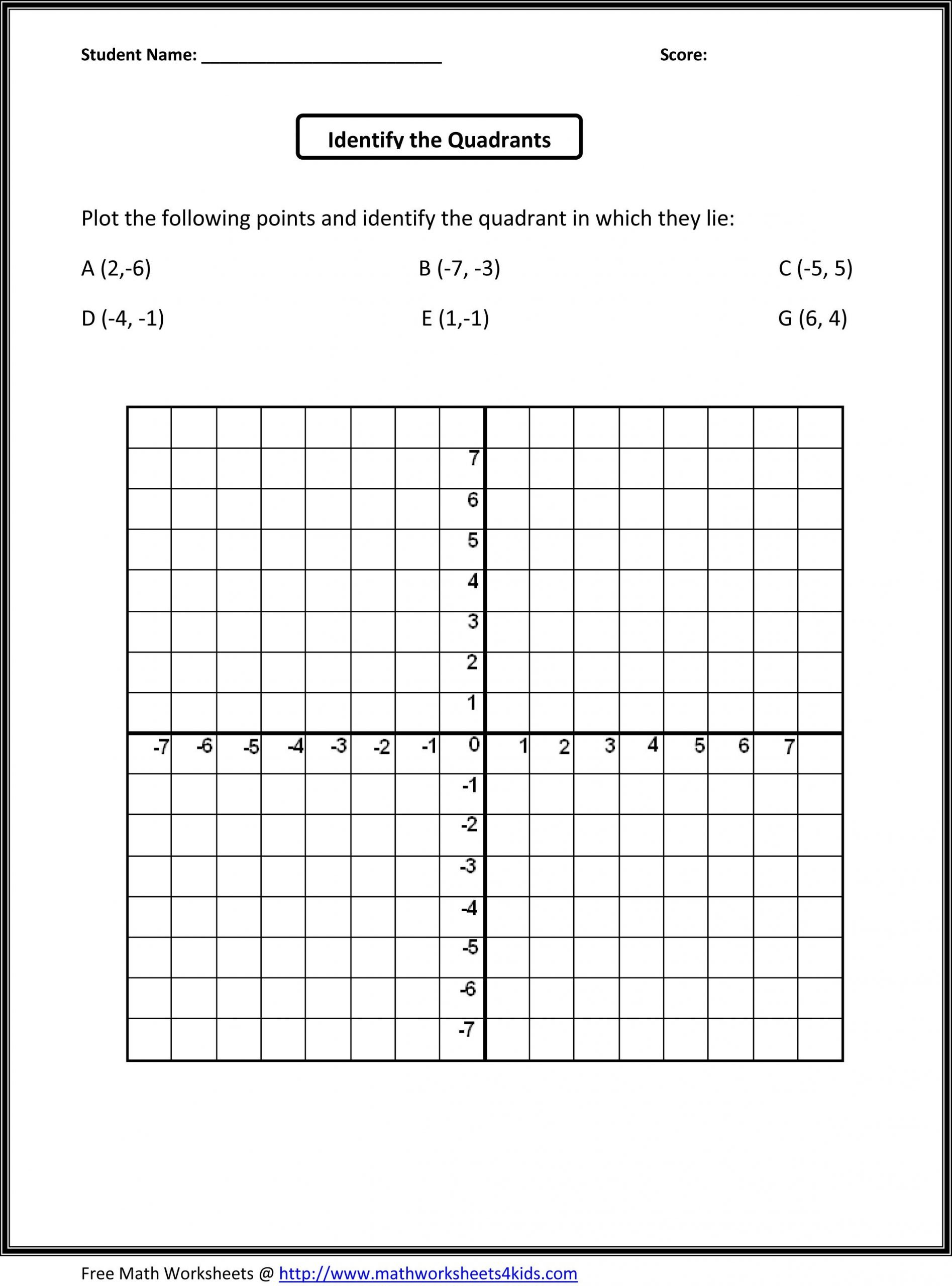 5th Grade Coordinate Grid Worksheets Fifth Grade Math Worksheets