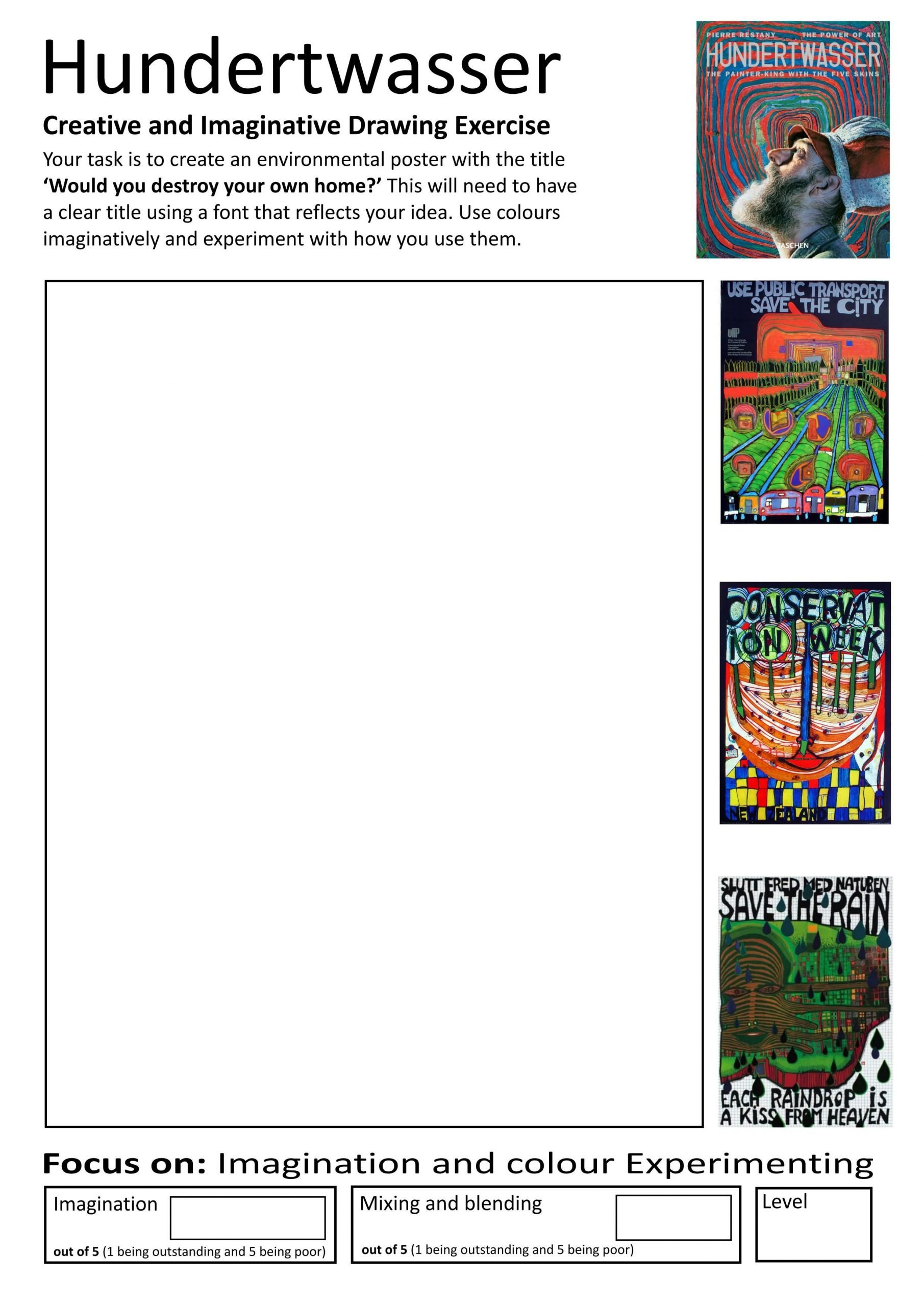 6th Grade Art Worksheets Home Learning Booklet Page