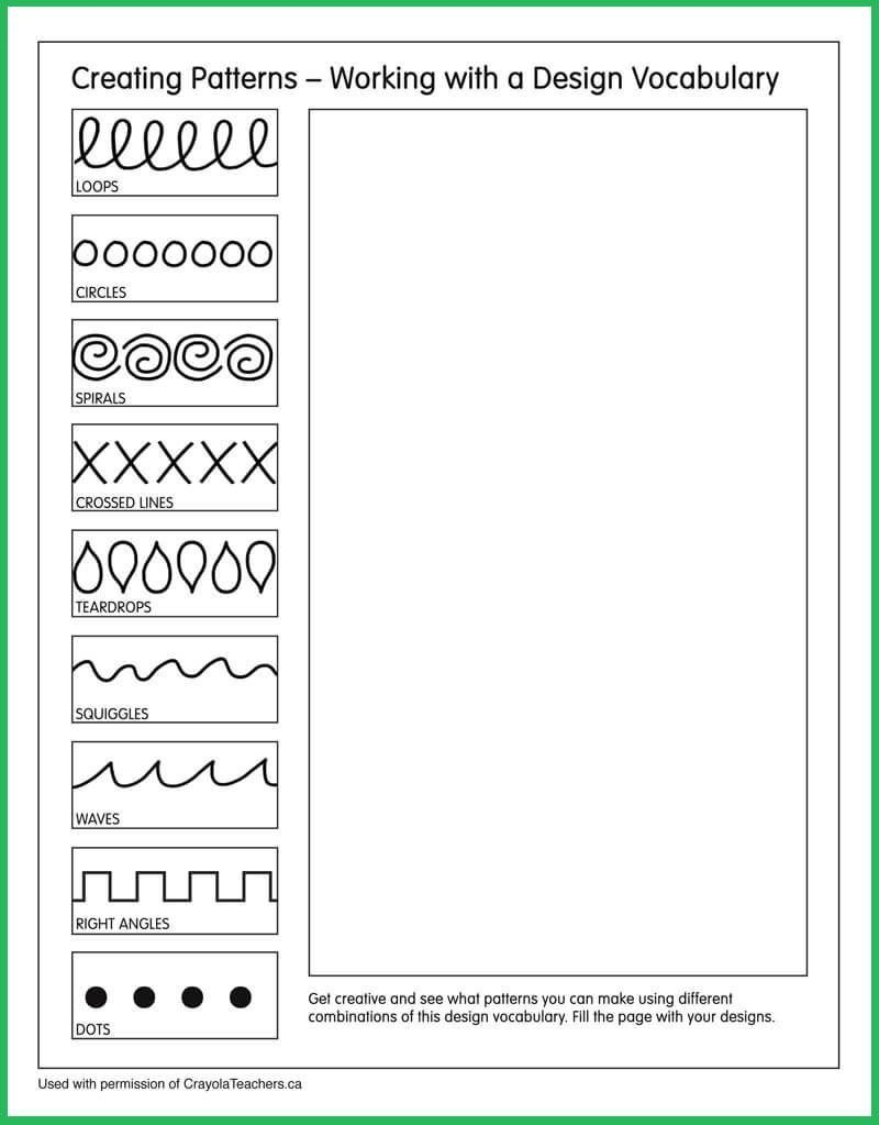 patterns artideas art ideas art worksheets art lessons