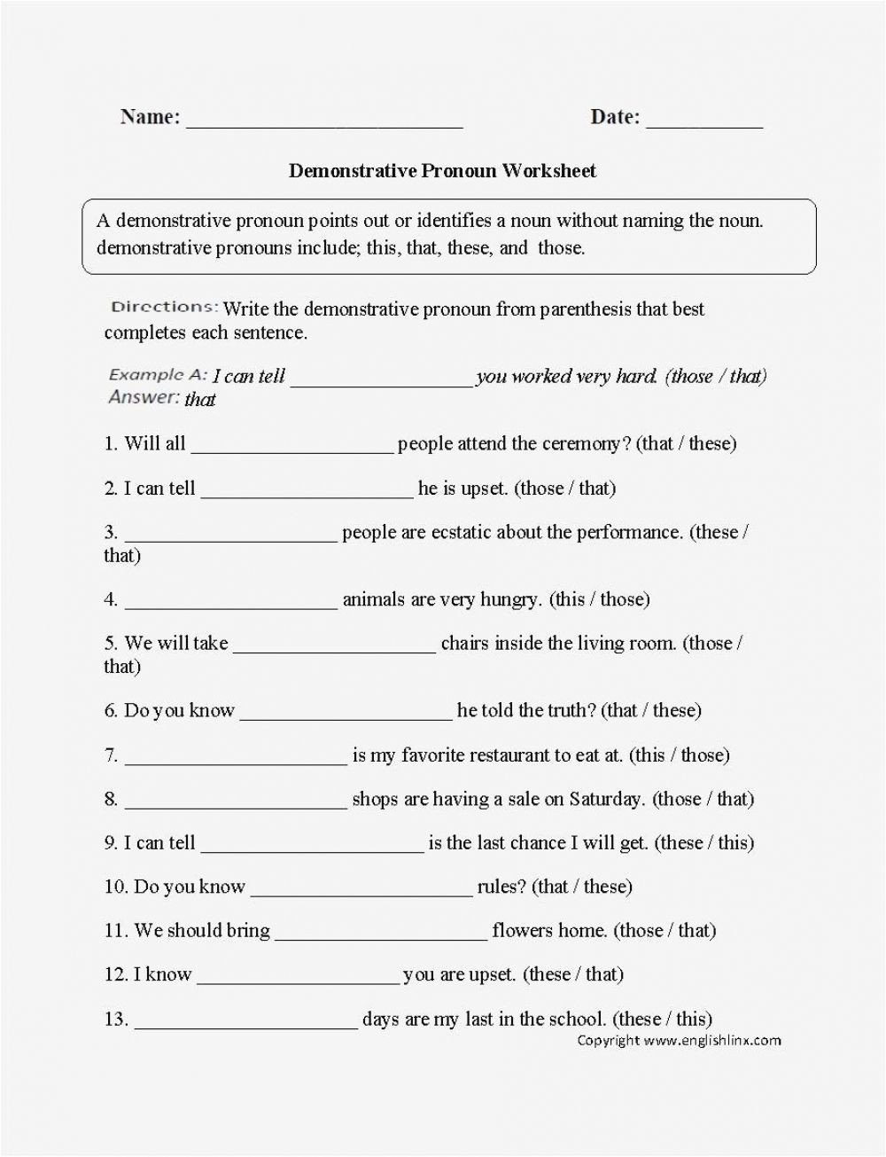 6th Grade Pronoun Worksheets Pin On School Learning Subjects
