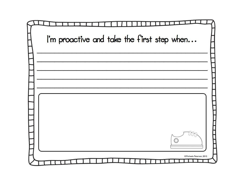 7 Habits for Kids Worksheets I M A Little Late In the Game but I M Linking Up today with