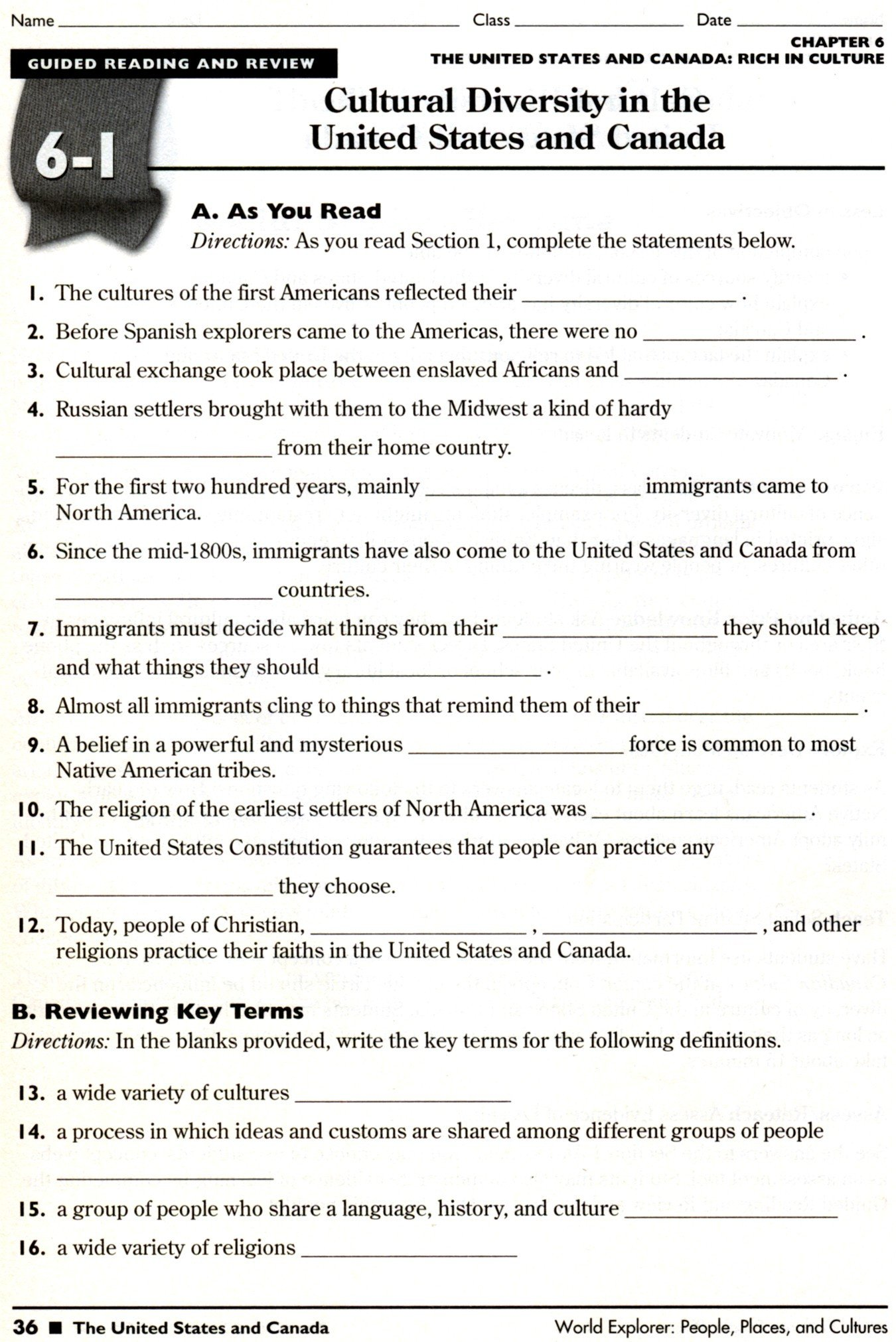 7th Grade World History Worksheets Seventh Grade History Worksheets