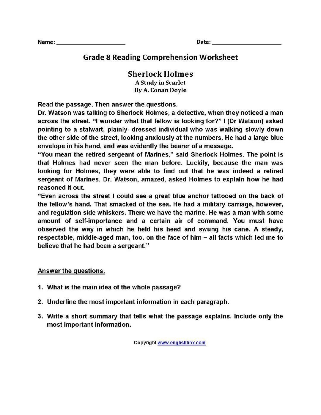 8th Grade Reading Worksheets Pin by Rebecca On Homeschool Board