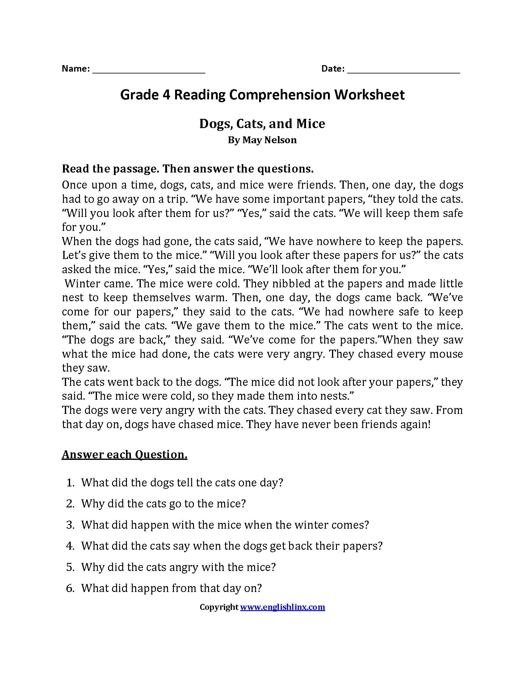 9th Grade Reading Worksheets Easy Reading Worksheets Chemistry Worksheets with Answers