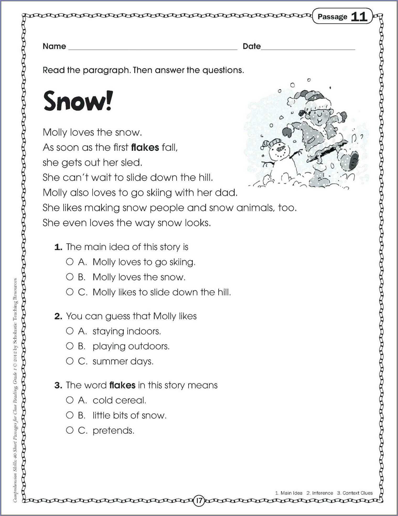 9th Grade Reading Worksheets Printable 9th Grade Reading Prehension Worksheets