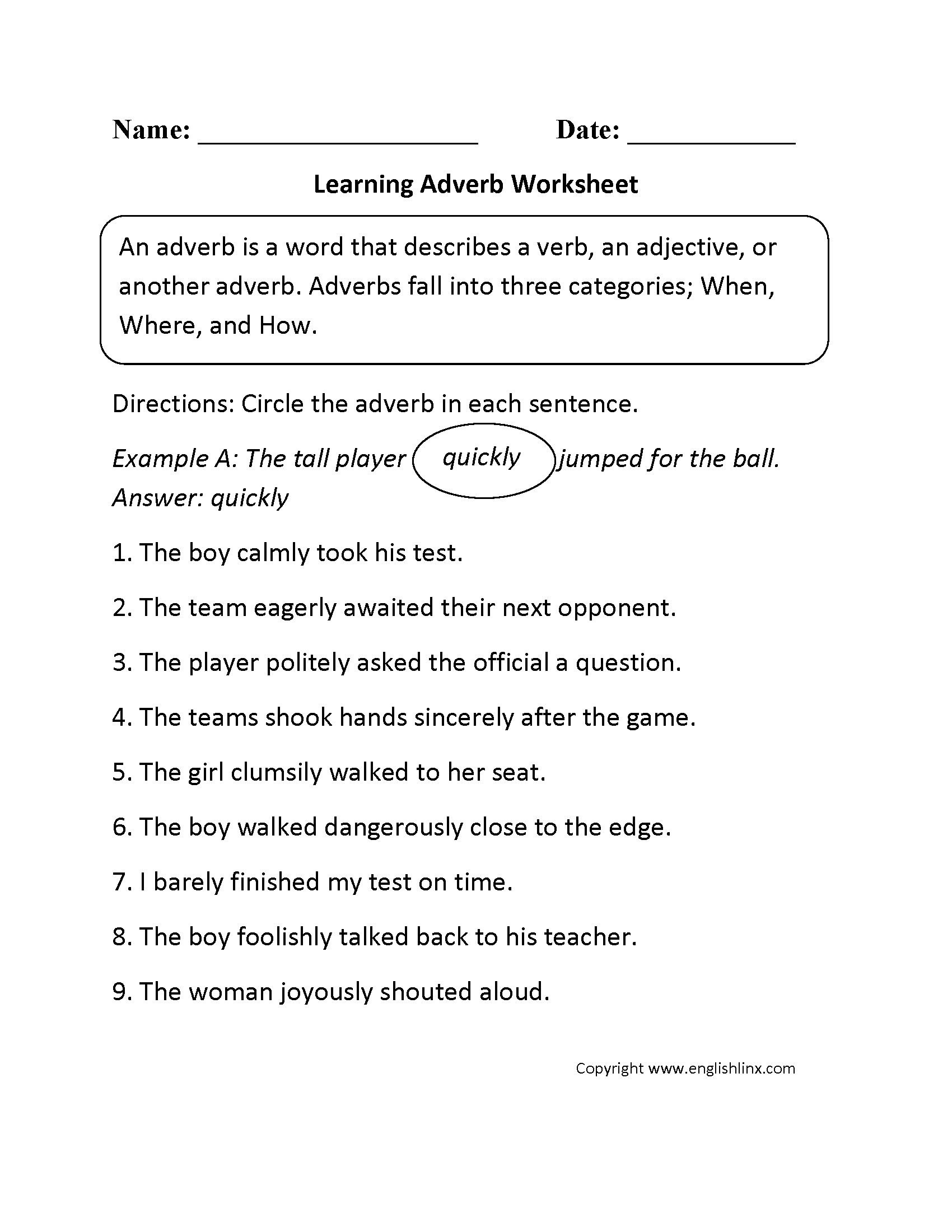 Adjectives Worksheets 3rd Grade Adding Improper Fractions Worksheet with Answers Merit Badge