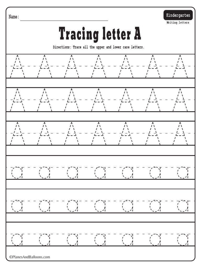 Alphabet Tracing Worksheets Az Pdf Alphabet Tracing Worksheets A Z Letter Case
