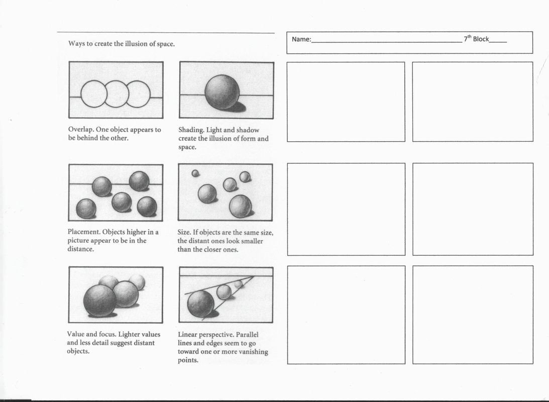 Art Worksheets Middle School Chiaroscuro Project