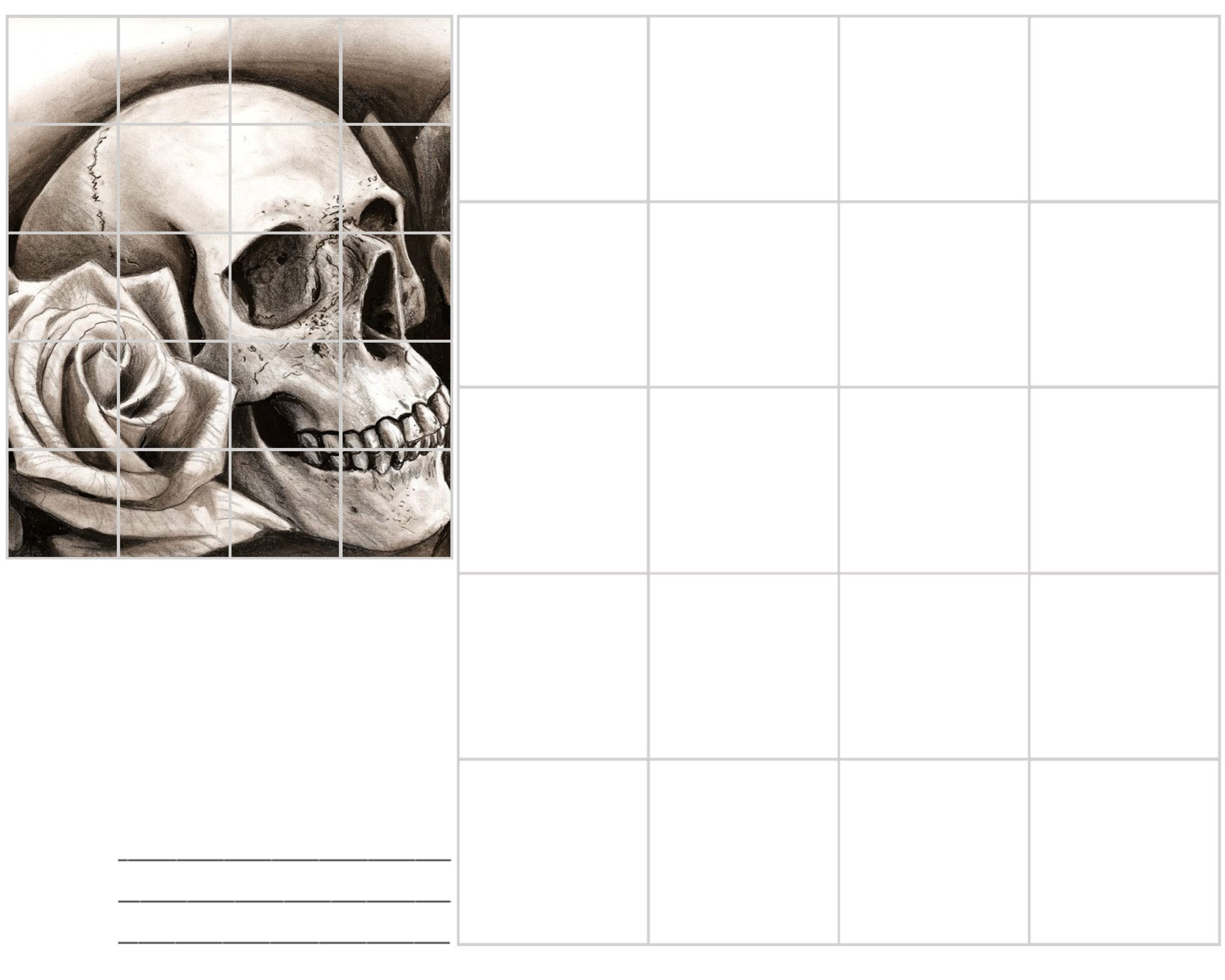 Art Worksheets Middle School Image Result for Skull Grid Drawing Art Lessons Middle
