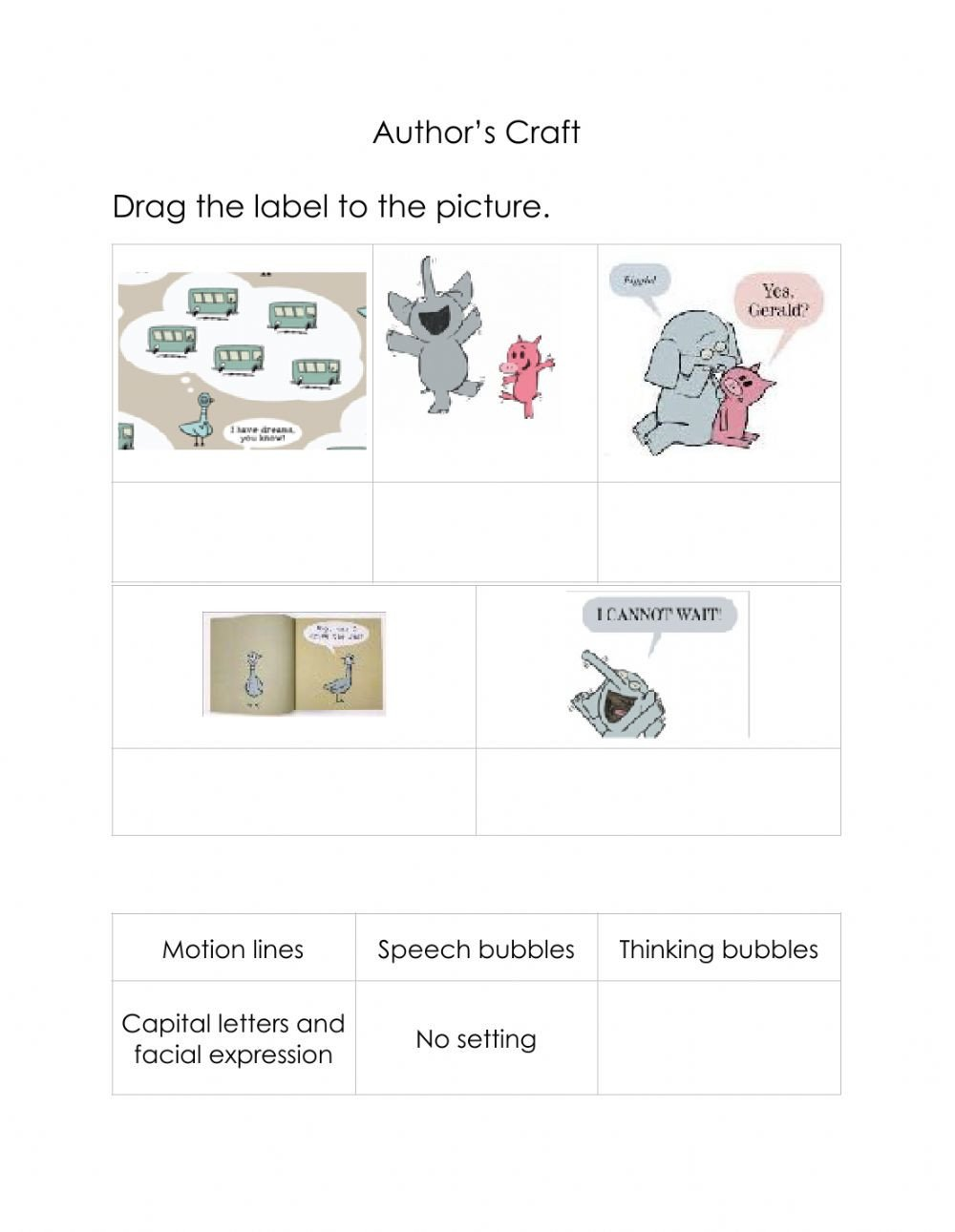 Author Craft Worksheets Author S Craft 2 Interactive Worksheet