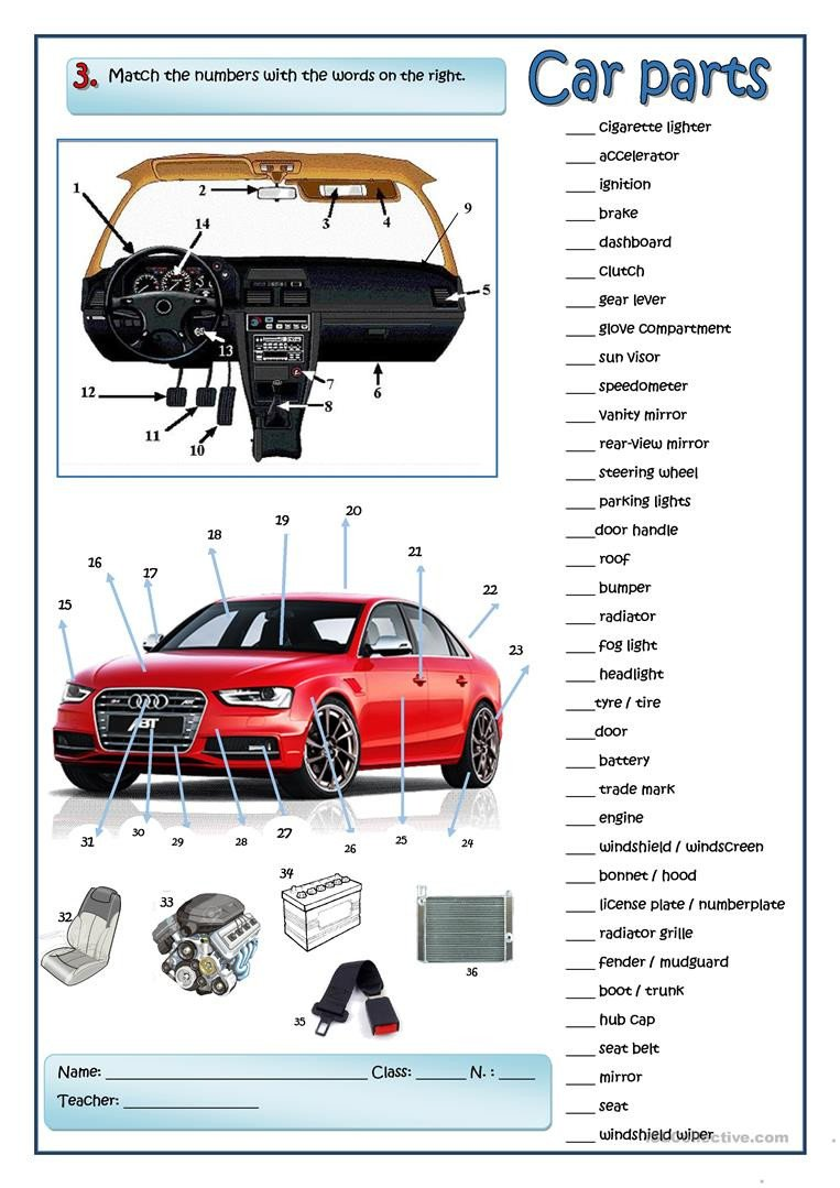 A car mechanic English ESL Worksheets for distance