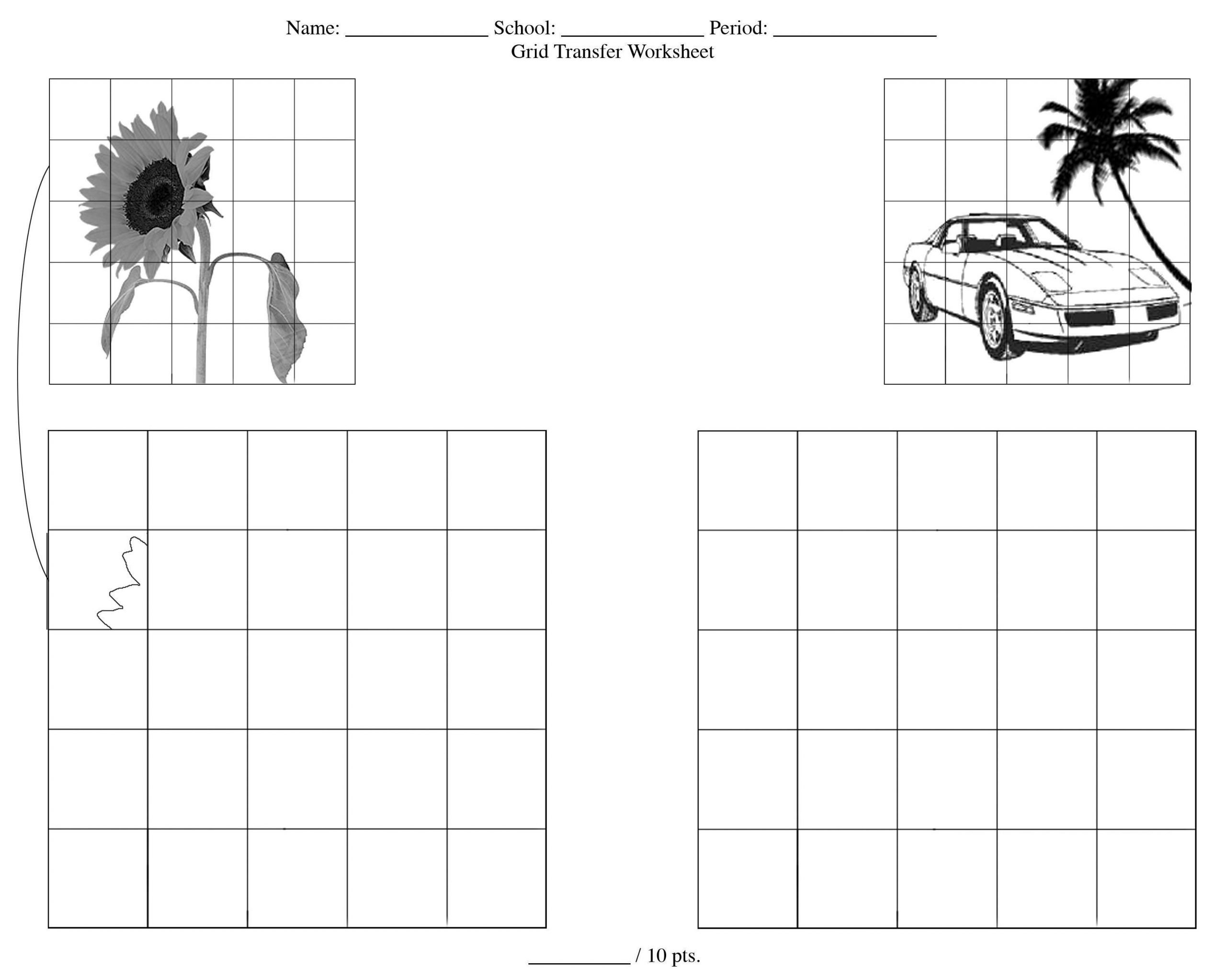 art worksheets high school