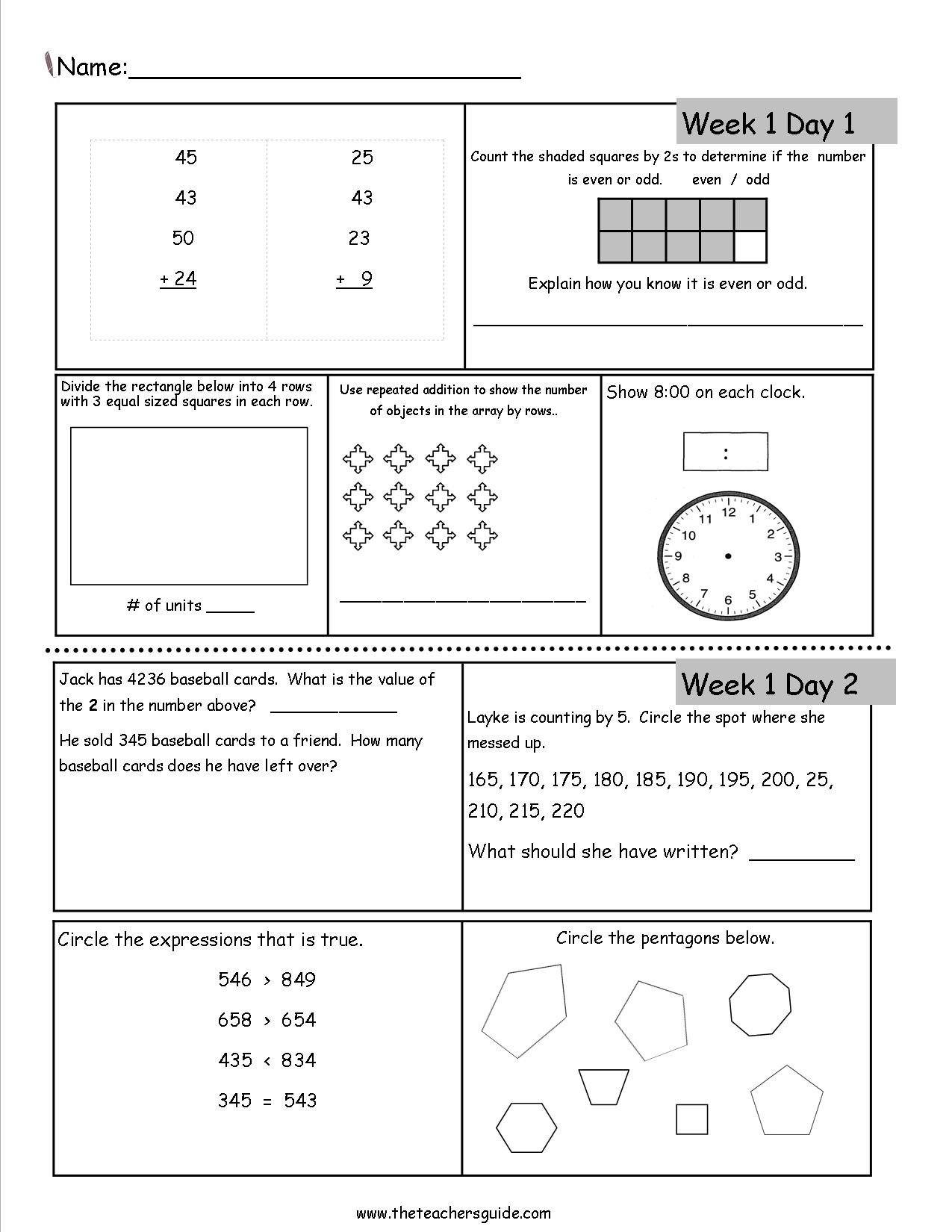 Baseball Math Worksheets Free 3rd Grade Daily Math Worksheets