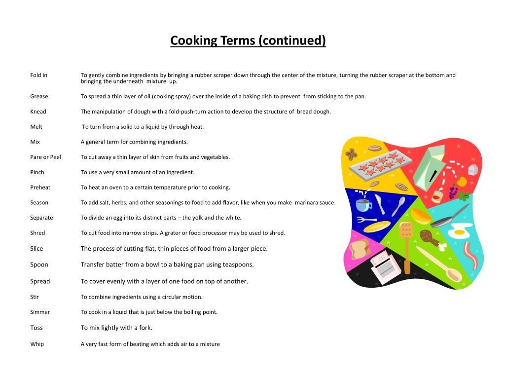 Basic Cooking Skills Worksheets Basic Cooking Skills Worksheets