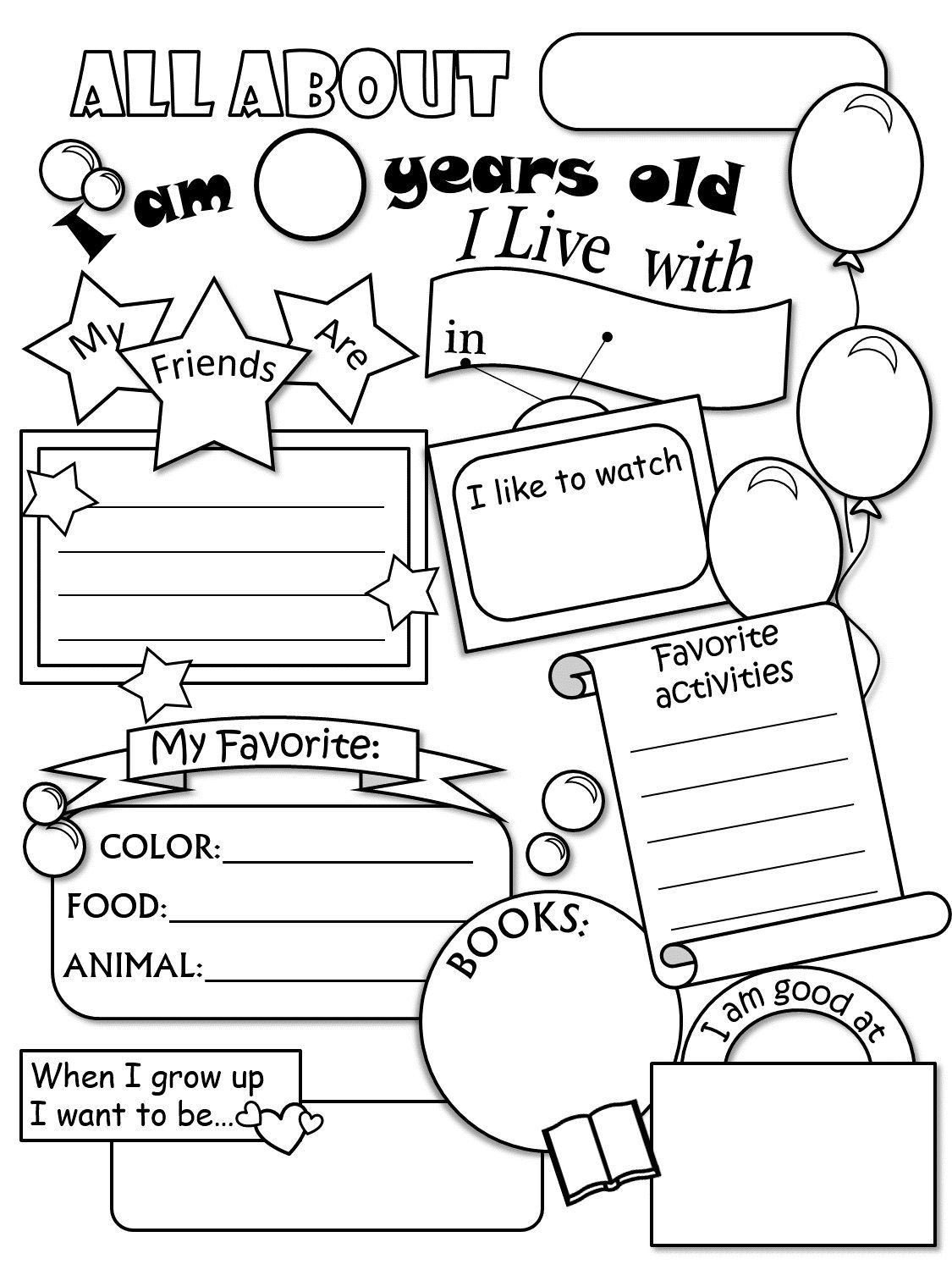 Big Vs Little Worksheets 2 Big and Little Worksheets for Preschool All About Me