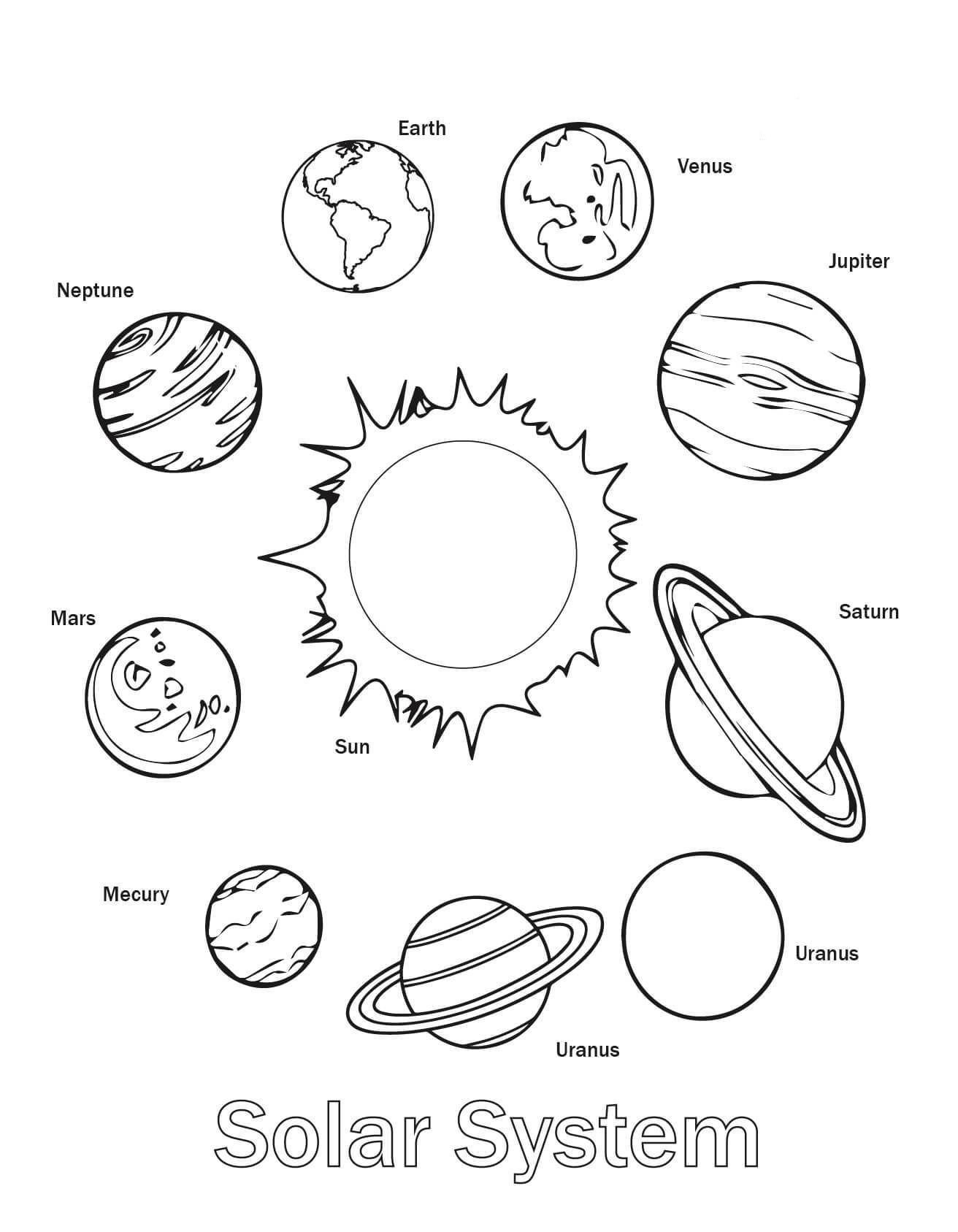 Big Vs Little Worksheets Free Printable solar System Coloring for Kids Big and Little